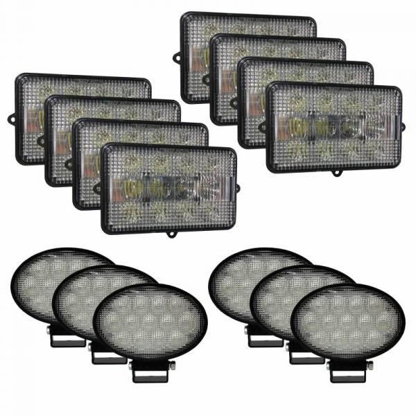 Tiger Lights - Complete LED Light Kit for John Deere Combines, JDKit-4