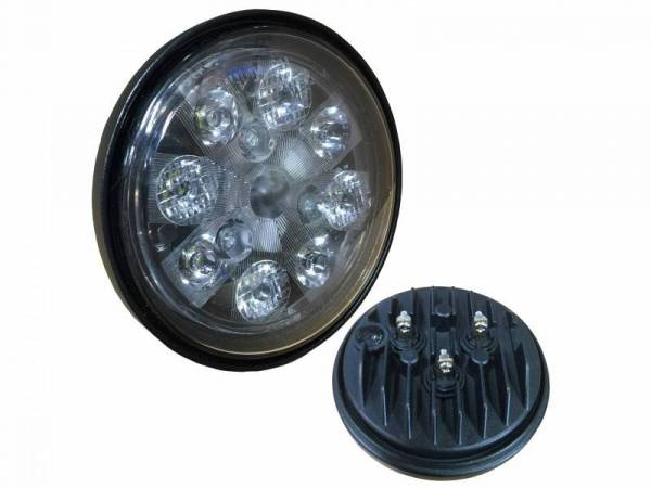Tiger Lights - 24W LED Sealed Round Work Light w/Red Tail Light, TL3005