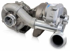 Ford 6.4L Powerstroke 08-10 - Turbos - 6.4L Powerstroke Industrial Injection Phatshaft 71/58mm Compound Turbos
