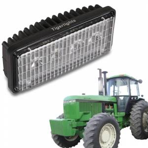 Tractors - 7410 - Tiger Lights - Small Rectangular LED Headlight, RE306510