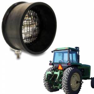 Tractors - 4000 - Tiger Lights - LED Round Tractor Light (Bottom Mount), TL2080