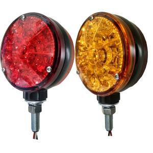 Tractors - 4000 - Tiger Lights - Red & Amber LED Flashing Light, TLFL3