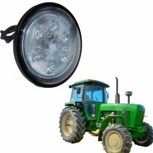 Tractors - 1080 - Tiger Lights - 18W LED Sealed Round Light, TL3010, RE336111