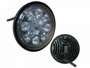 Tractors - 4000 - Tiger Lights - 24W LED Sealed Round Hi/Lo Beam with Wired Cable, TL3020, RE25126