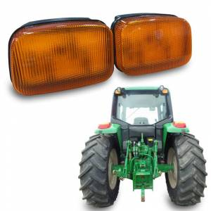 Tractors - 7410 - Tiger Lights - LED John Deere Amber Cab Light, TL7020