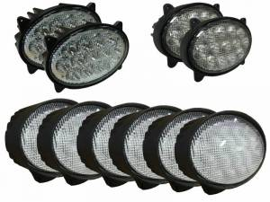 Tractors - 9520T - Tiger Lights - LED Light Kit for John Deere 20 Series Tractors, JDKit-2