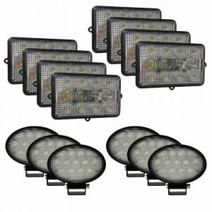Combines - 9610 - Tiger Lights - Complete LED Light Kit for John Deere Combines, JDKit-4