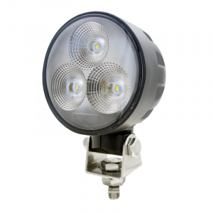 Hay & Forage - W235 Windrower - Tiger Lights - Round LED Headlight w/ Swivel Mount, TL8090