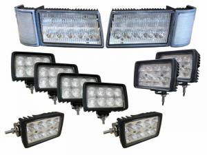 Tractors - MX120 - Tiger Lights - Complete LED Light Kit for Case/IH MX Maxxum Tractors, CaseKit-10