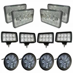 Tractors - 9100 - Tiger Lights - Complete LED Light Kit for John Deere 9000 Series, JDKit-7