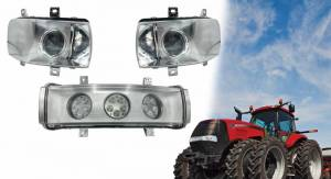 Tractors - MX305 - Tiger Lights - LED Headlight Kit for Newer Case/IH Magnum, MX, Quadtrac Tractors, CaseKit11