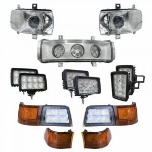Tractors - Magnum 290 - Tiger Lights - Complete LED Light Kit for Case/IH Magnums w/Upgraded Headlights, CaseKit-14